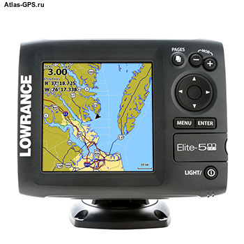 Картплоттер Lowrance Elite-5m HD